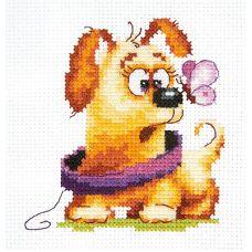 Набор для вышивания крестом Забавный малыш, 9x10, Чудесная игла