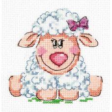 Набор для вышивания Малышка овечка, 10х10, Чудесная игла