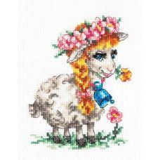 Набор для вышивания Красавица овечка, 11х13, Чудесная игла
