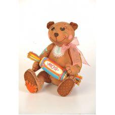 Набор для шитья Мишка - сладкоежка, 26см, Перловка