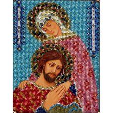 Набор для вышивания Святые Петр и Феврония, 14x19, Вышиваем бисером