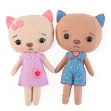 Набор для шитья куклы Бэкки и Лакки, 15см, Тутти