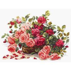 Набор для вышивания крестом Королевские розы, 38x28, Чудесная игла