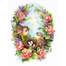 Набор для вышивания крестом Семейное гнездышко, 19x25, Чудесная игла
