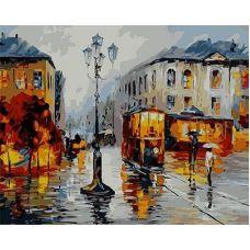 Живопись по номерам Трамвайчик на площади, 40x50, Paintboy, GX9023