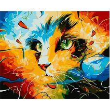 Живопись по номерам Кошка, 40x50, Paintboy, GX9490