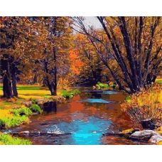 Живопись по номерам Осенний ручей, 40x50, Paintboy, GX3800