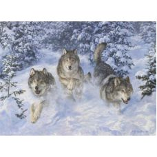 Живопись по номерам Три волка, 40x50, Paintboy, GX3469