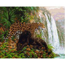 Живопись по номерам Леопарды, 40x50, Paintboy, GX6514