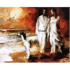 Живопись по номерам Прогулка по пляжу, 40x50, Paintboy, GX4082