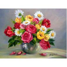 Живопись по номерам Весенние цветы, 40x50, Paintboy, GX9445