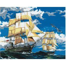 Живопись по номерам Корабли в море, 40x50, Paintboy, GX4391