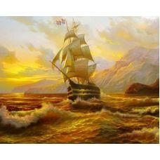 Живопись по номерам Бурное море, 40x50, Paintboy, GX9083