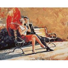 Живопись по номерам Поцелуй в парке, 40x50, Paintboy, GX8652