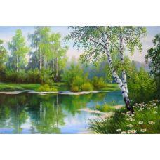 Живопись по номерам Березы у воды, 40x50, Paintboy, GX3471