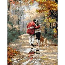 Живопись по номерам Пара на прогулке, 40x50, Paintboy, GX8440