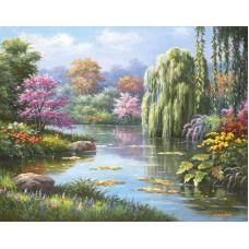Живопись по номерам Сказочный пруд, 40x50, Paintboy, GX7146