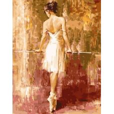 Живопись по номерам Балерина у станка, 40x50, Paintboy, G237