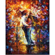 Живопись по номерам Поцелуй на мостике, 40x50, Paintboy, GX7623