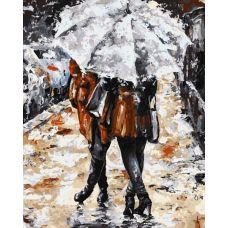 Живопись по номерам Прогулка в дождь, 40x50, Paintboy, GX7513