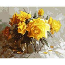 Живопись по номерам Желтые розы, 40x50, Paintboy, GX8651