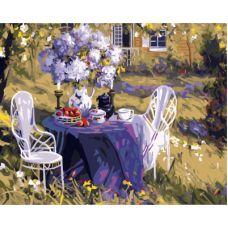 Живопись по номерам Лиловое чаепитие, 40x50, Paintboy, GX7800