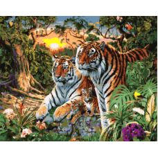 Живопись по номерам Тигры, 40x50, Paintboy, GX7861