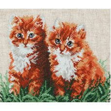 Набор для вышивания крестом Рыжие друзья, 22x19, Чудесная игла