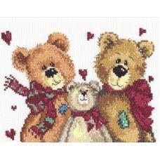 Набор для вышивания Три медведя, 18х16, Чудесная игла