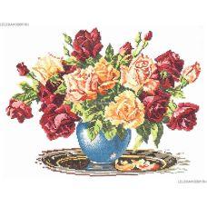 Набор для вышивания крестом Розы, 34x26, Чудесная игла