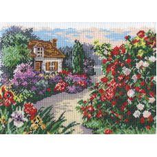 Набор для вышивания крестом Цветущий сад, 28x20, Чудесная игла