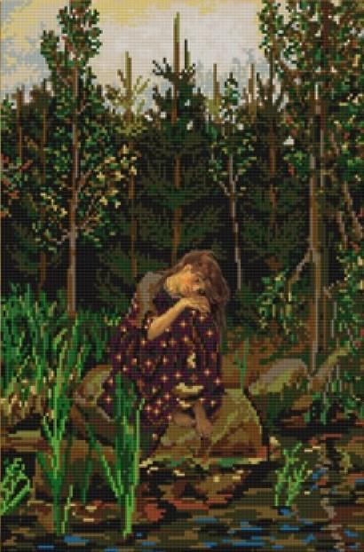 Аленушка васнецов вышивка крестом
