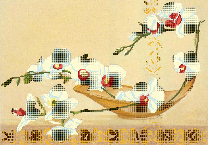 Вышивка бисер рисунок на ткани 22