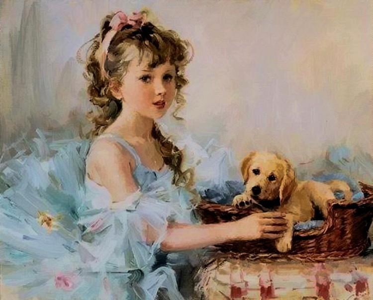 Картины с девочками своими руками 136