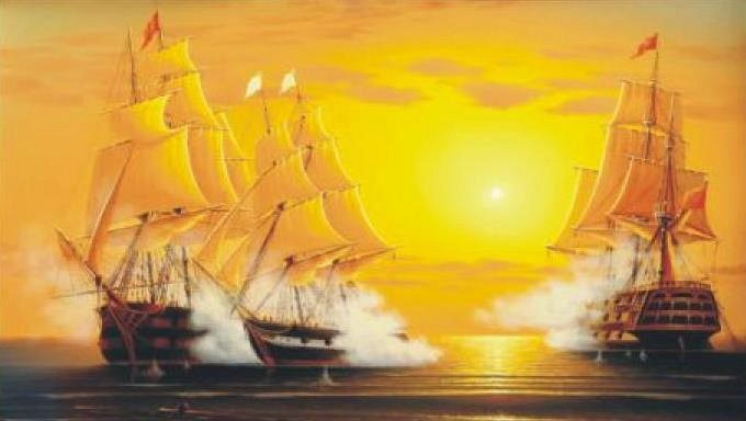 Алмазная вышивка корабль море
