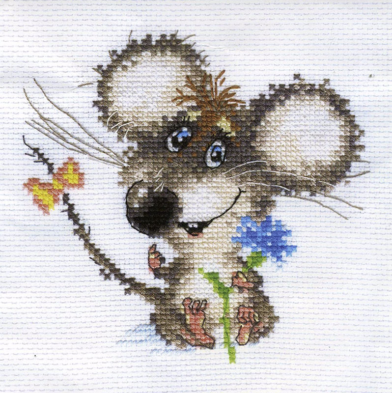 Вышивка крестом мышата 89
