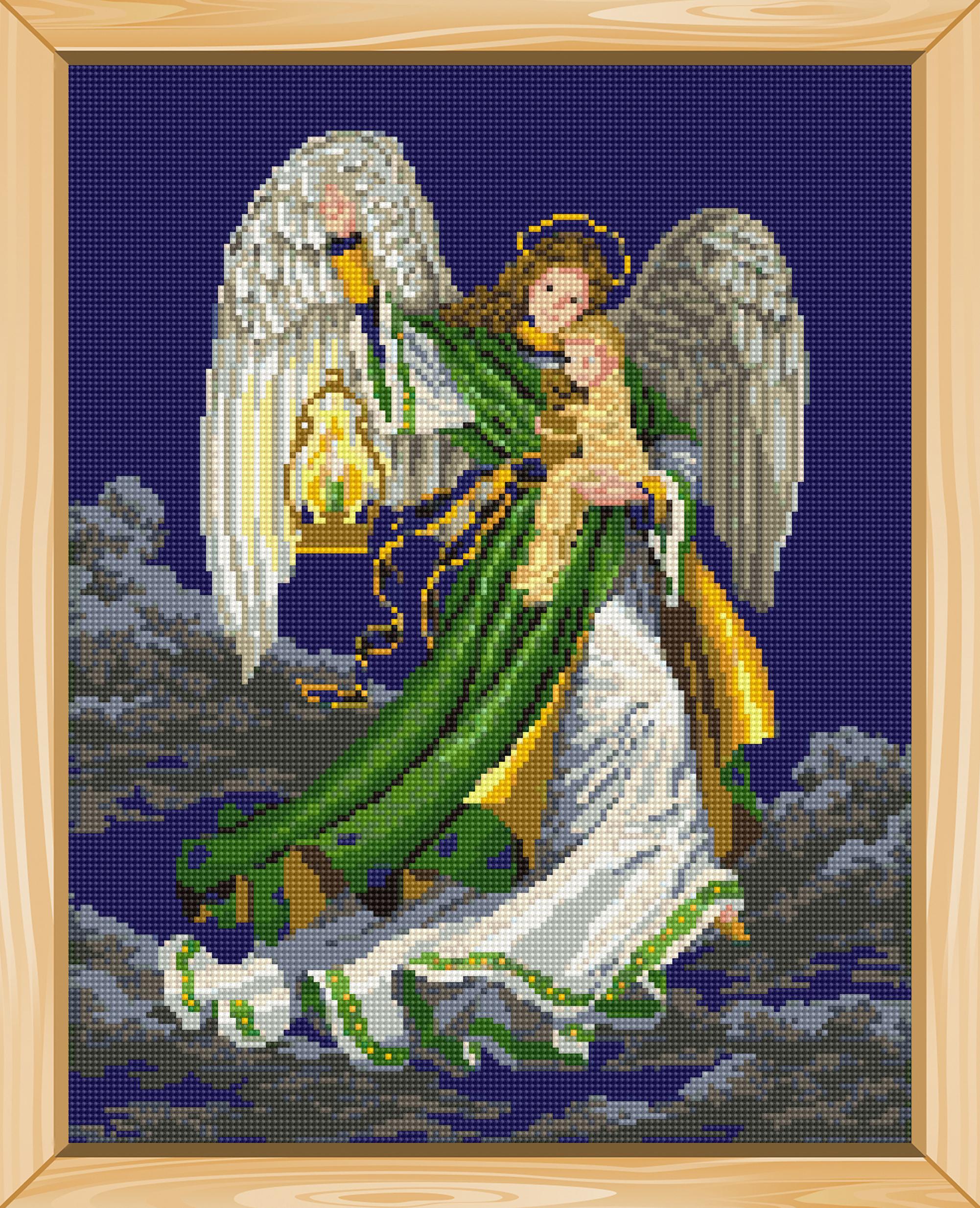 Схемы для мозаики ангел