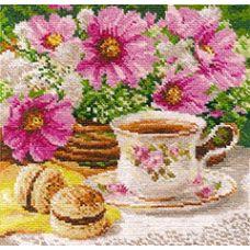 Вышивка Утренний чай, 18x18, Алиса