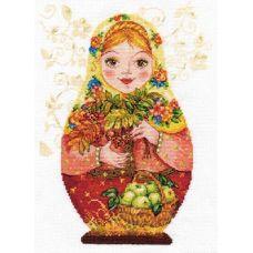 Вышивка Матрешки. Осенняя краса, 19x26, Алиса