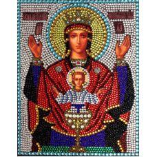 Вышивка термостразами Богородица Неупиваемая чаша, Преобрана