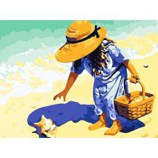 Раскраска Морские находки, 30x40, Белоснежка