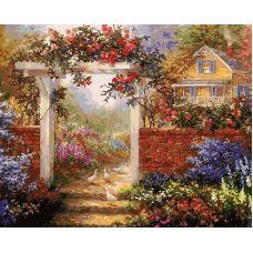 Живопись по номерам Цветущая усадьба, 40x50, Белоснежка