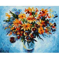 Живопись по номерам Разноцветные ромашки, 40x50, Белоснежка