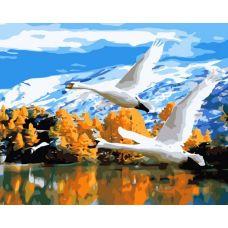 Картина по номерам В тёплые страны, 40x50, Белоснежка