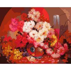 Картина по номерам Бархатный букет Антона Горцевича, 40x50, Белоснежка
