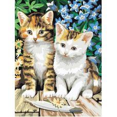 Раскраска Котята, 30x40, Белоснежка