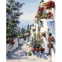 Живопись по номерам На юге Испании, 40x50, Белоснежка