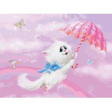 Картина по номерам Белая кошечка Алексея Долотова, 30x40, Белоснежка