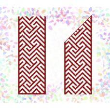 Флизелин водорастворимый Красный орнамент 3, Confetti