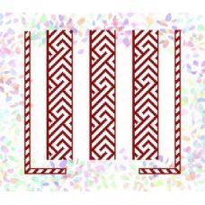Флизелин водорастворимый Красный орнамент 2, Confetti